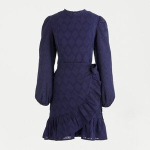 J.Crew Puff-sleeve wrap dress